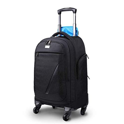 SH-lgx Nylon Waterproof Travel Portable Trolley Backpack, Flywheel Wheeled Package Backpack is Very Suitable for Business Trips, Travel Backpack