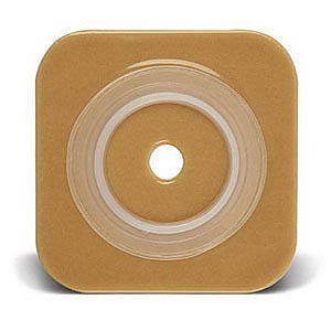 Sur-Fit Natura Stomahesive Cut-to-Fit Wafer 4'' x 4'', 1'' to 1/4'' Flange (Box of 10)