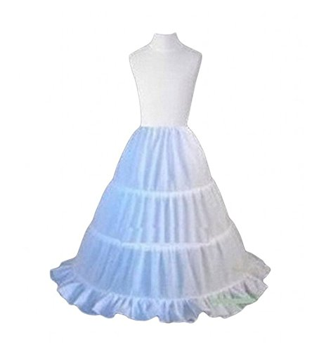 Price comparison product image Udresses Girls Flower Girl Petticoat Childrens 3 Hoop Underskirt Slips (Free)