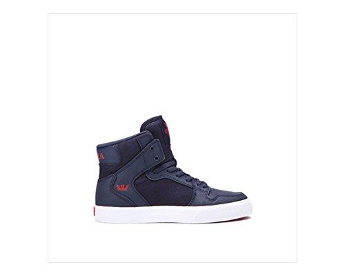 Supra Children Kids Vaider Navy Risk Red White Shoes Size 6.5