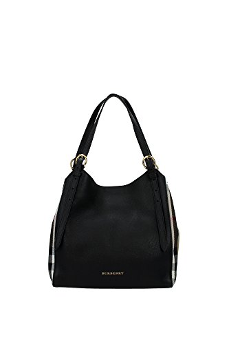 3958975BLACK Burberry Shoulder Bags Women Leather Black