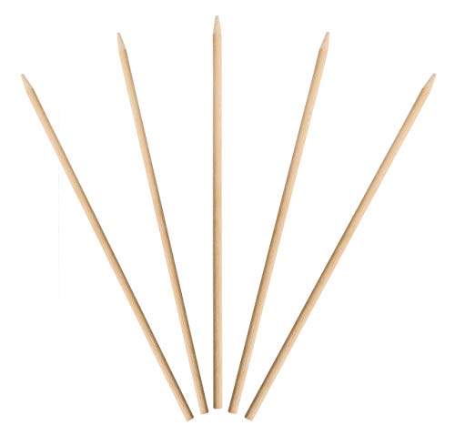 KingSeal Natural Birch Wood Corn Dog Skewers, Sticks, 8.75 Inches, 5 mm Diameter - 1000 Count
