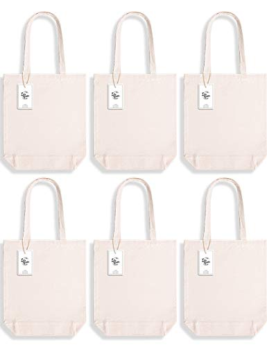 Lily Queen Cotton Canvas Tote bag Blank Cloth Shopping Bags Reusable Grocery Bags Washable with Flat Bottom 15