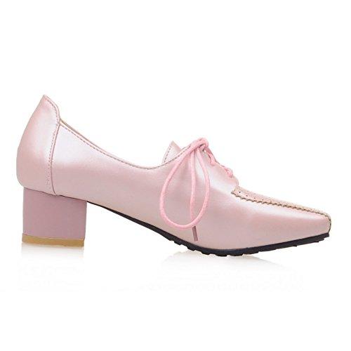 Square Womens Loafers Pink Fashion Low Heel Fashion Toe Heel Heel Y8wPWqx