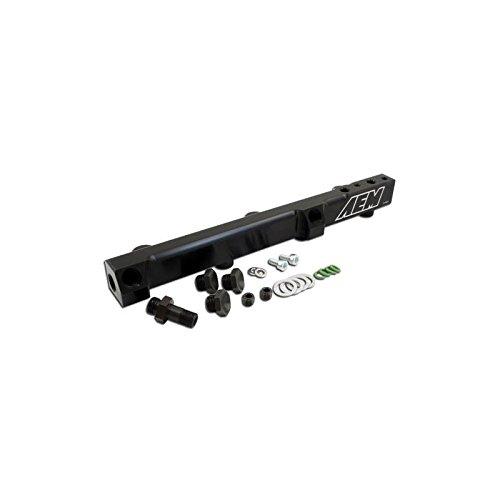 01 Aem Fuel Rail - AEM 90-93 Accord DX/LX/SE/EX And 92-01 Prelude S/Si/Si VTEC Black Fuel Rail (25-104bk)