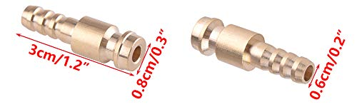 1.2inch 3cm LETAOSK 2pcs 6mm Dia Gas /& Water Male Adapter Quick Connector for TIG Welding Torch Intake Length: approx