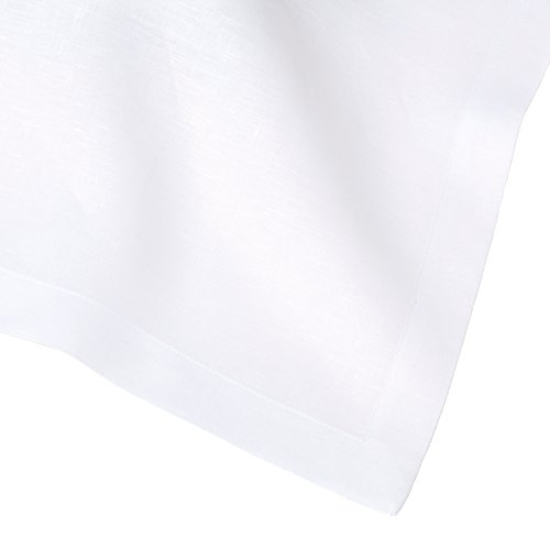 Huddleson White Italian Pure Linen Tablecloth, 66