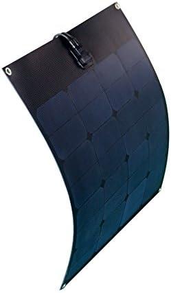 enjoysolar® flexibles Solarmodul 50W Solarpanel 12V ideal für Caravan Boot Yacht Full Black Edition