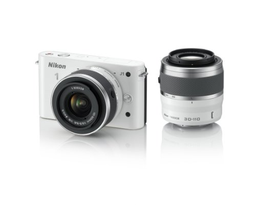 Nikon 1 J1 10.1 MP HD Digital Camera System with 10-30mm VR and 30-110mm VR 1 NIKKOR Lenses ()