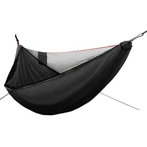 GOFORWILD Camping Hammock with Net, Single Nylon Hammocks in Diagonal Design, Lightweight Portable...