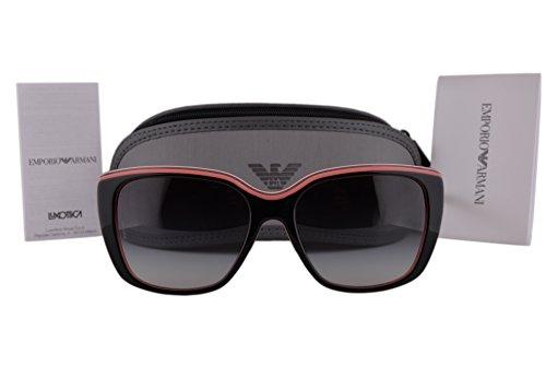 Emporio Armani EA4069 Sunglasses Top Black Transparent Coral w/Gray Gradient Lens 55148G EA 4069 For - Ea2036 Emporio Sunglasses Armani