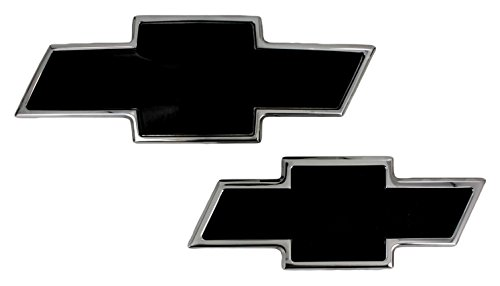 (AMI 96129KP Chevy Bowtie Grille & Lift gate Emblem - Polished/Black Powder coat, 1 Pack)