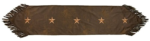 HiEnd Accents Laredo Western Runner, 14 x 72, Chocolate - Leather Table Runner