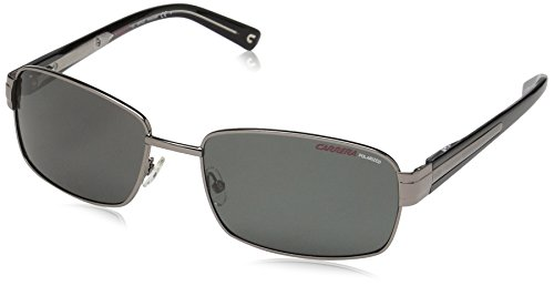 Carrera Men's Airflow/s Polarized Rectangular Sunglasses, Matte Gunmetal, 58 mm