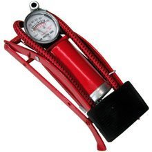 Foot Pump for Bikes, Motorcycles, Balls, Tires By Aj Tools Chip808