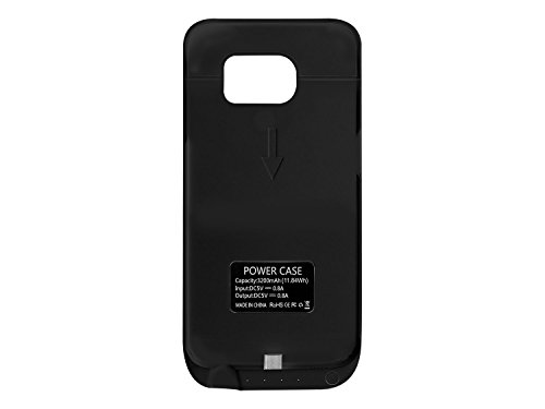 Cellet 3200 mAh Rechargeable External Battery event for Samsung Galaxy S6 Edge Black Cases