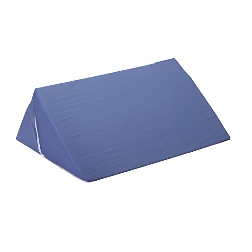 Hermell Knee Rest Wedge Pillow, Improves Circulation, Post-Surgery, Injury Relief, Back Pain Relief, Sciatica Relief, and Varicose Veins Relief, Removable Cover - Blue by Hermell Products Inc.