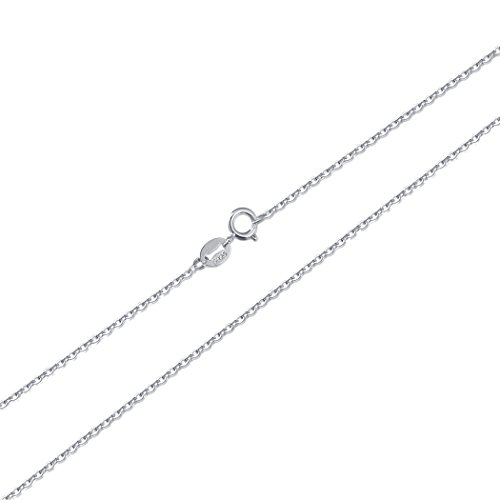 LAIMALA Sterling Silver 1.0mm Italy Cable Chain Necklace for Women Girls, 14