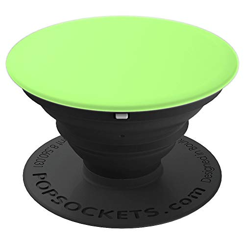 Pistachio Celery Pale Green Color Solid Hue Plain - PopSockets Grip and Stand for Phones and Tablets ()