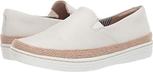 CLARKS Women's Marie Pearl Loafer White Leather 065 M US