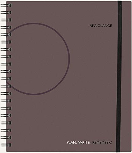 (AT-A-GLANCE PLAN.WRITE.REMEMBER. 80620430 Planning Notebook Two Days Per Page, 9 3/16 x 11, Gray (80-6204-30))