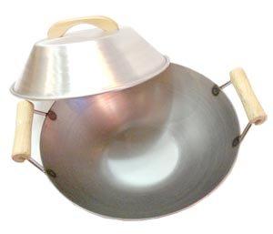 flat bottom carbon steel wok 14 - 9