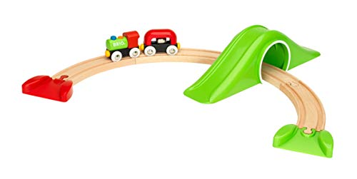 BRIO World - 33726 My First Railway Starter Pack | 9 Piece Train Toy with Accessories and Wooden Tracks for Kids Ages 18 Months and Up