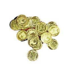 Plastic Gold Coins  144 Ct