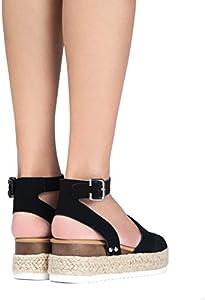 J. Adams Blair Espadrille Sandal Straw Platform Open Toe
