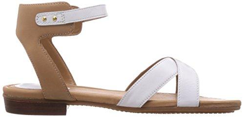 Clarks Viveca Zeal - Sandalias de vestir de cuero para mujer Blanco (White Leather)