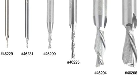 Amana Tool 46239 Solid Carbide Spiral Plunge 3//32 Dia x 1//4 x 1//8 Shank x 2 Long Do