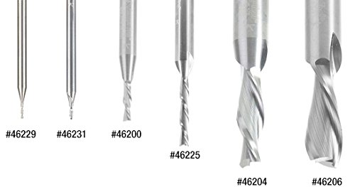 46433 Solid Carbide Spiral Plunge 1//8 Dia x 1//2 x 1//4 Shank Down-Cut Amana Tool