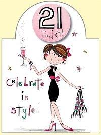 rachel ellen 21st birthday girl card amazon co uk electronics