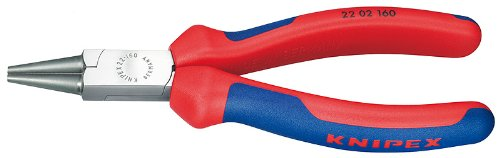 Knipex 2202160 Round Nose Pliers with Comfort Grip, 6.25 Inch (Wire Nose Round)