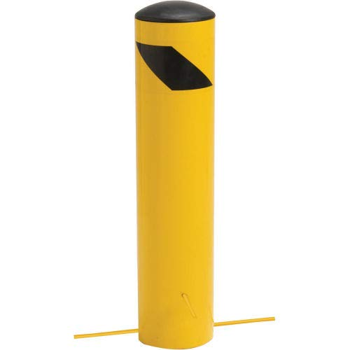 Steel Bollard With Removable Plastic Cap & Chain Slots For Underground 24