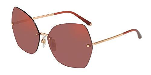 (Dolce & Gabbana Women's DG2204 Pink Gold/Dark Violet Mirror Red One Size)