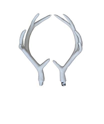 - ZILIN 17CM Artificial White Deer Antlers a Pair Wall Decoration