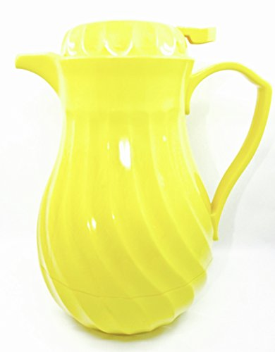 Hormel Connoisserve Vintage Insulated Carafe,swirl Design,thumb - Yellow Insulated Carafe