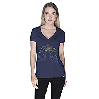 Creo Lungs Animal T-Shirt For Women - L, Navy