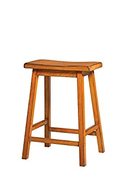 Acme Furniture Gaucho Counter Height Stool Set of 2 , Antique Oak