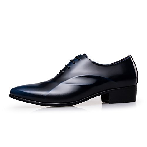Zro Uomo Stringate Eleganti Scarpe Oxford Moderne Blu