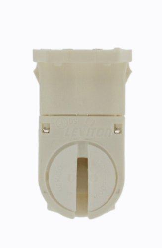 Leviton 23654-TNP Miniature Base, T5 Bi-Pin, Fluorescent Lampholder, Tall Profile, White