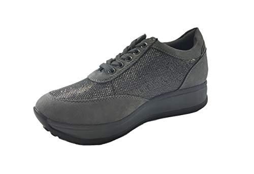Lacets Chaussures Ville de pour MUDS Femme Glitter à Argento RvwBnqRI