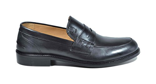 Saxone Of Scotland mocassino loafer vitello nero