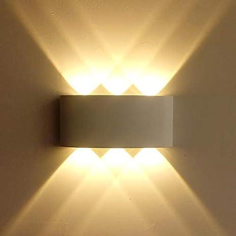 Illuminazione Per Esterni A Parete.Lampop Lampada Da Parete 6w Applique Da Parete Moderna Luce Led Impermeabile Illuminazione Interno Esterno Per Soggiorno Camera Da Letto Corridoio