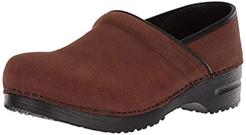 Sanita Men's Professional Oiled Leather Clogs Antique Brown 45 & Rag - Clogs Sanita Oiled