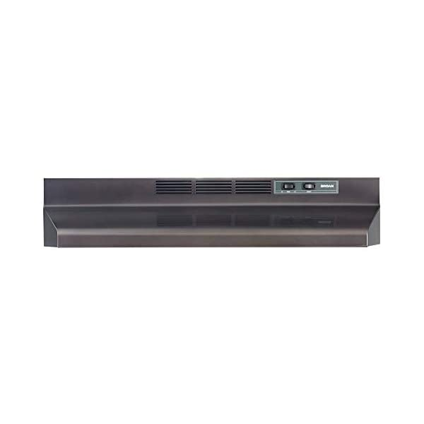 Broan-NuTone F4030BLS Two-Speed Four-Way Under-Cabinet Convertible Range Hood with Light, ADA Capable, Black Stainless Steel, 30-Inch