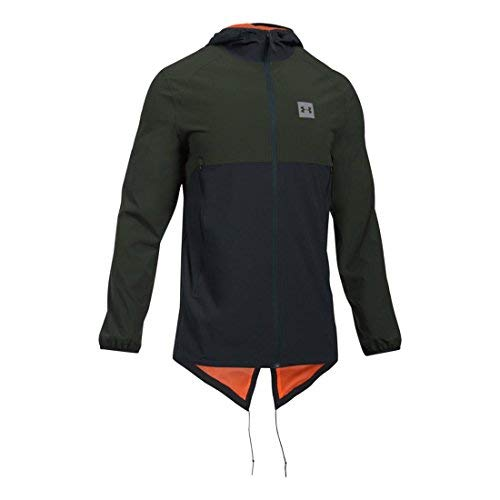Men's Under Armour Sportstyle Fish Tail Jacket, Green/Black, XS-R