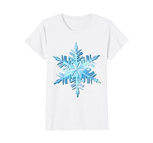 Womens Snowflake fancy dress costume winter holiday t-shirt
