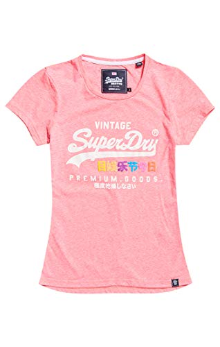 Zv0 Goods Entry Mujer Para neon Camiseta Pink Puff Tee Rosa Premium Snowy Superdry 7qHwAq